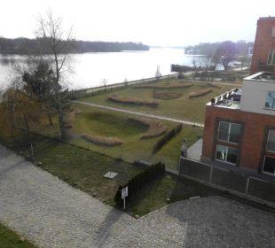 Aussicht aus dem Zimmer arcona Hotel am Havelufer
