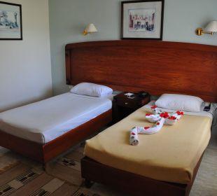 Dekoration der Betten