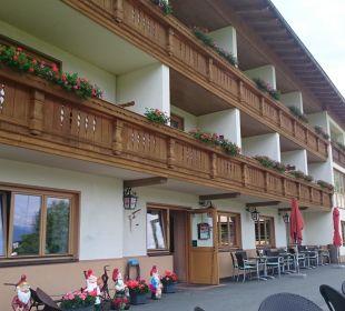 Ansicht von der Terrasse Pension Alpenhof Strenge