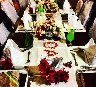 Geburtstagstisch beim Galadinner Sensimar Makadi Hotel