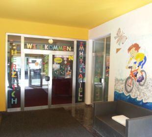 Eingangsbereich Hotel Ariell