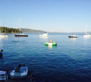 Sonnen,Baden und Bootle fahren bei Baroni Insel Iz Pension Villa Baroni