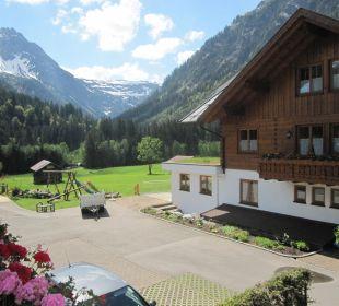 Blick vom schönen Balkon Ferienwohnungen Andreas Huber