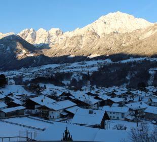 Ausblick aus unserem Zimmer nach dem Aufstehen Hotel Bergkranz