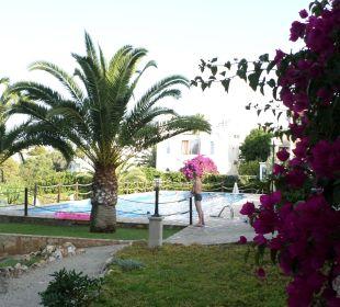 Garten mit Blick auf den großen Pool JS Hotel Cape Colom