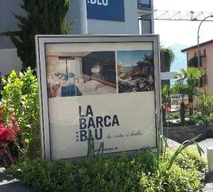 Eingang La Barca Blu  Hotel