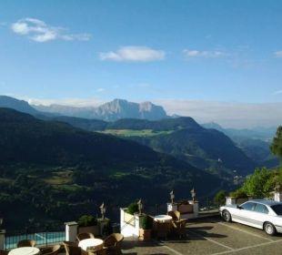 Wunderschöner Ausblick vom Balkon Berglandhotel Untertheimerhof