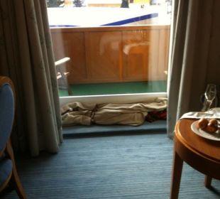Nicht isolierte Terrassentüre Thermenhotel Ronacher