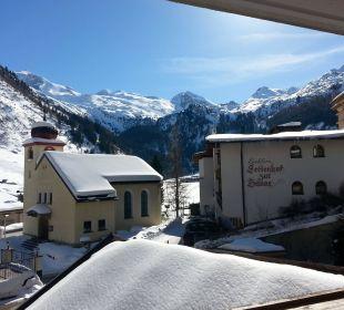 Zimmerblick mit Gletscher Hotel Klausnerhof