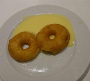 Dessert mit Apfelringen und Vanilliensoße HKK Hotel Wernigerode
