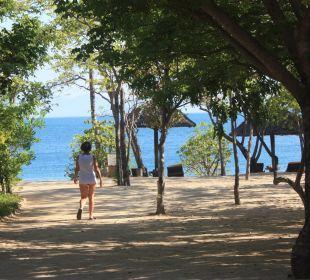 Weg vom Pool zum Strand Hotel Six Senses Ninh Van Bay