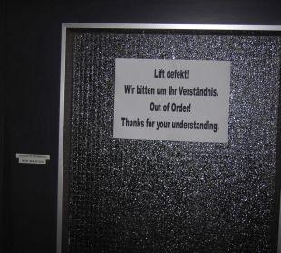 Der defekte Lift! Erlebnishotel Tiroler Adler