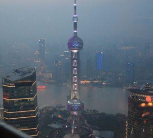 Blick vom Grand Club auf Shanghai Hotel Grand Hyatt Shanghai