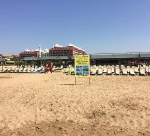 Strandabschnitt Hotel Side Crown Palace