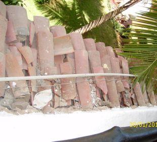 Ein wenig kaputt das Dach Hotel Pueblo Caribe