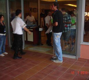 Restauranteingang und Ausgang