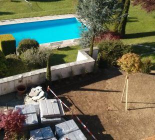 Terrasse im Umbau, Pool Hotel Walkner
