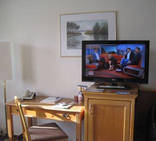 Nicht schick: Bild deplatziert hinter Fernseher Kaiser Spa Hotel zur ...