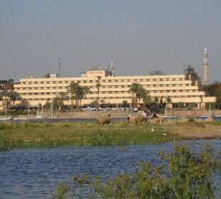Ansicht von einer Feluke aus Achti Resort Luxor