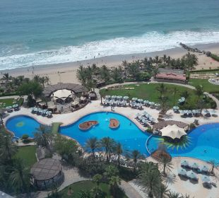 Pool & beach Hotel Le Meridien Al Aqah Beach Resort