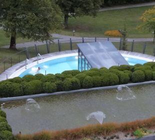 Schwefel-Aussenpool 34 Grad warm Lenkerhof gourmet spa resort