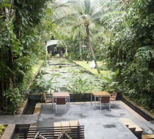 Teich mit tropic Garten Anantara Bophut Resort & Spa