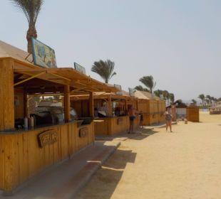 Buden am Strand