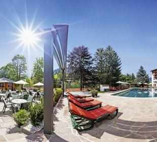 Pool mit Garten Hotel Die Post Hotel Die Post