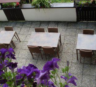Terrasse für Frühstück, Kaffee, Abendessen.... Frühstückspension Hüttwirt