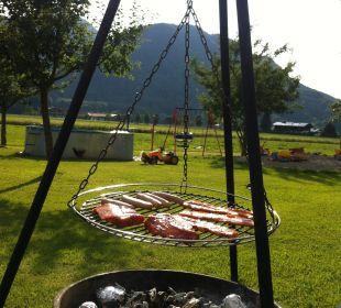 Grillen mit Blick auf die Berge Bio-Bauernhof Zacherlhof