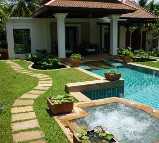Whirlpool und Blick auf die Villa Hotel Banyan Tree Phuket