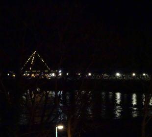 Seebrücke bei Nacht, vom Balon aus gesehen Maritim Hotel Kaiserhof Heringsdorf
