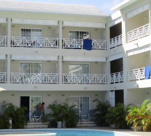 Unser Gebäudetrakt Hotel Vista Sol Punta Cana