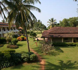 Blick von unserem Balkon auf die Spavilla Hotel Holiday Inn Resort Goa