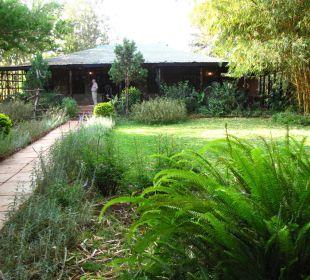 Restaurant im Grünen mit Terrasse Octagon Safari Lodge