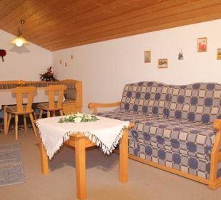 Essecke im Wohnschlafraum d. 2-Raum FEWO Nr. 2  Ferienwohnung Heim