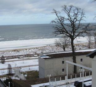 Blick aus dem Badezimmer  Strandhotel Ostseeblick