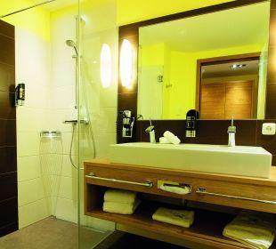 Badezimmer Hausbergsuite Landhotel Stemp