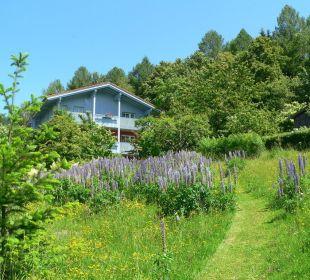 Außenansicht mit Garten Landhaus Korte