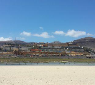Vom Strand zum Hotel Occidental Jandía Playa