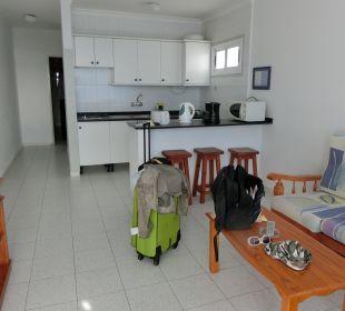 Wohnzimmer und Küche Hotel Jable