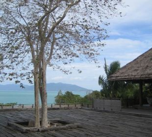 Genialer Blick aufs Meer vom Emfpang Six Senses Samui Resort & Spa