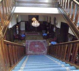 Treppe zur Bibliothek Schlosshotel Ralswiek