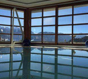 Blick vom Whirlpool aus Hotel Cervosa