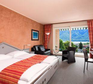 Superior Classic Zimmer mit Balkon und Seeblick Hotel Belvedere Locarno