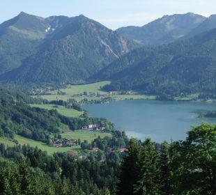 Blick auf den See Alpenhotel Schliersbergalm