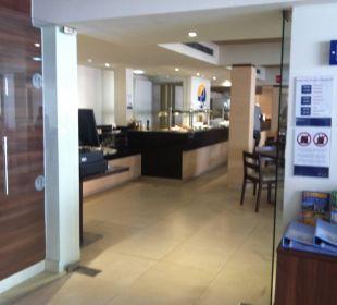 Restaurant, von der Lobby aus gesehen Appartments Pabisa Orlando