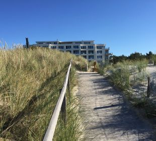 Hotelweg vom Strand Strandhotel Dünenmeer