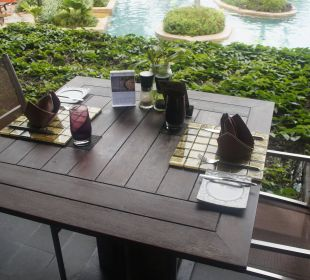 Tischdecko Beachrestaurant Anantara Bophut Koh Samui Resort