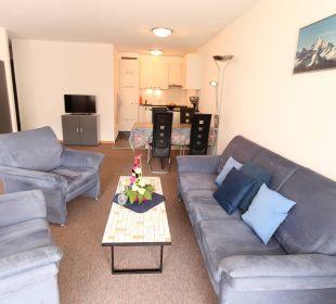 Wohnzimmer 2-Zimmerwohnung Ferienwohnungen Azur